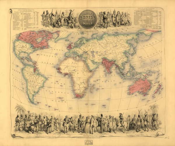 British Empire throughout the world exhibited in one view.